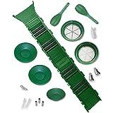 Sluice Fox Deluxe Gold Panning Kit (19 pc) Prospecting Sluicing Dredging (Color: 19 Piece Kit (Green))