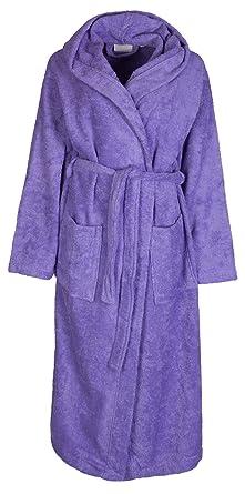 peignoir capuche pour pour femme en coton ponge doux doux de florentina lavande. Black Bedroom Furniture Sets. Home Design Ideas