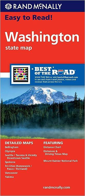 Rand McNally Easy to Read Washington State Map written by Rand McNally