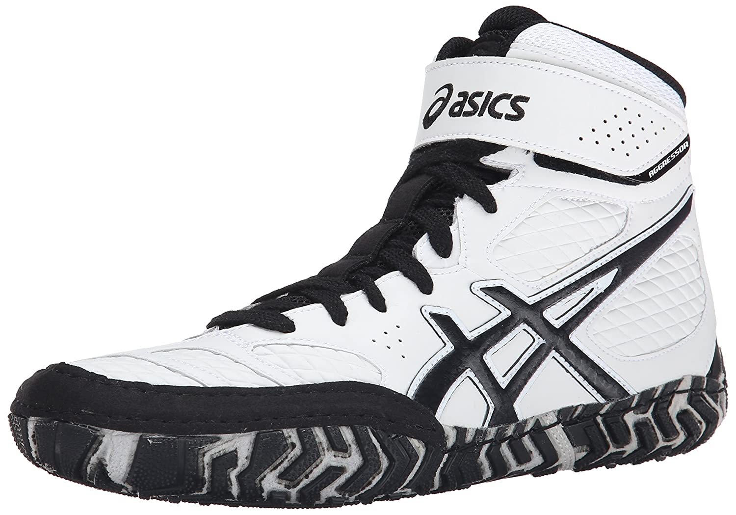Asics Men S Aggressor 2 Wrestling Shoe White Black 10 5