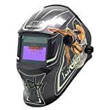 ATF Solar Powered Auto Darkening Welding Helmet Luminous and Ultra High Definition Welding Hood With Adjustable Shade Range DIN4/9-13,With +2.00 Magnifying Welding Lens. (Color: Beauty)