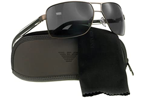 metal wayfarer sunglasses  Emporio Armani Wayfarer Sunglasses (Gun Metal) (EA525GR64): Amazon ...