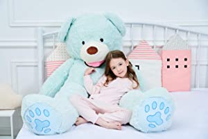IKASA Giant Teddy Bear Plush Toy Stuffed Animals 5.25 Foot (Green, 63 inches) (Color: Green, Tamaño: 63 inches)