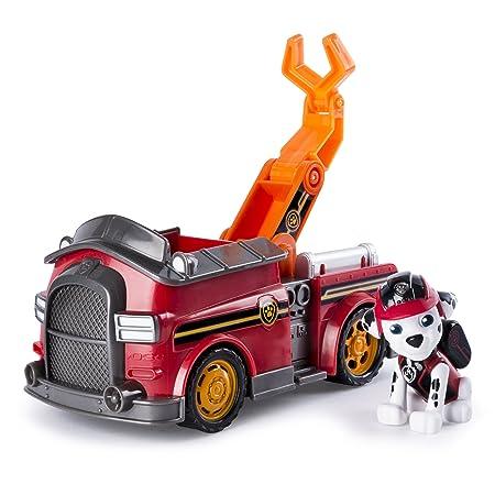 MIssion Paw Patrol - 20079009 - Figurine Animation Paw Patrol + Véhicule - Marcus est prêt à combattre le feu