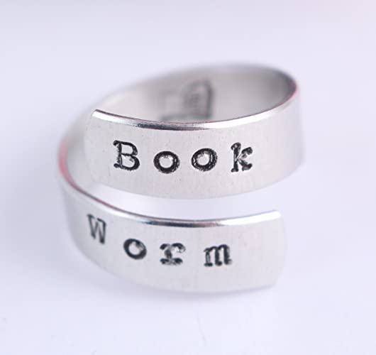 Book Worm Wrap Ring - Twist Ring - Book Lover - Gift for Reader
