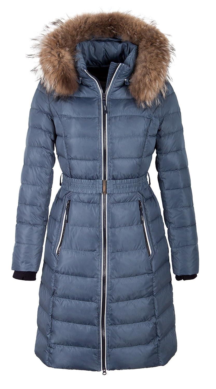 """Q306 Damen Daunenmantel """"SNOWIMAGE"""" mit Echtfellkapuze hellblau günstig online kaufen"""
