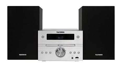 Telefunken mc1001bm Audio Stéréo Bluetooth (Tuner PLL-CD/CD-R/CD-RW, USB, AUX-IN, télécommande)