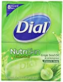 Dial Nutriskin With Fruit Oil, Glycerin Soap Bar, Grapeseed Oil and Lemongrass, 4-Ounce Bars, 8 Count (Pack of 2)