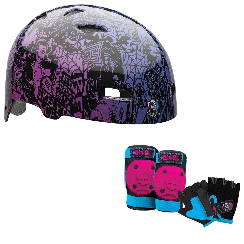 Monster High Girls Skate / Bike Helmet Pads & Gloves - 7 Piece Set lanova 7pcs set protective gear knee elbow pads wrist protector protection skate helmet for scooter cycling roller skate 4 size