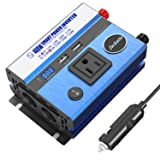 400W Power Inverter DC 12V to AC 110V Car Inverter with 2 USB Charging Ports Car Adapter with AC Outlets & Cigarette Lighter Sockets Automotive Power Converter for Car Battery with Digital Display (Tamaño: 400W)