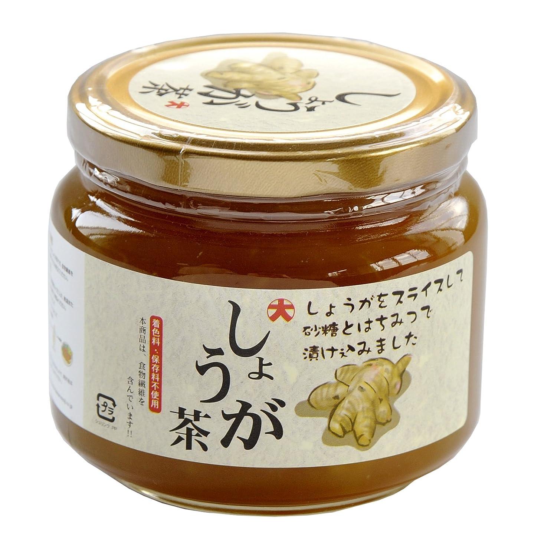 しょうが茶580g:スライス生姜たっぷりのはちみつ漬けタイプ