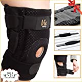 Patella Stabilizing Knee Brace - Newly Engineered Knee Braces with Enhancement on Flexibility, Extra Supportive, Non-Slip and Non Bulky - Vie Vibrante fits 18