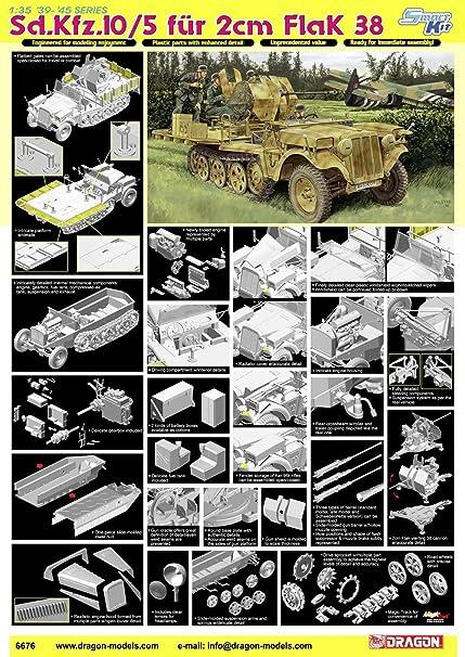 Dragon - D6676 - Maquette - Flak 38 SDKFZ 10/5 - Echelle 1:35