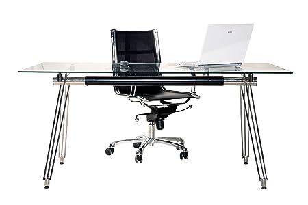 Bureau design en verre 160x80 cm (UE)