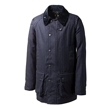 Beaufort SL Waxed Wool Stripe MWX00171: Navy