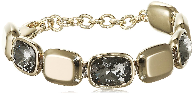 Dyrberg/Kern Damen-Armband 15/02 Tana Sg Grey teilvergoldet Kristall grau 21.3 cm - 337630