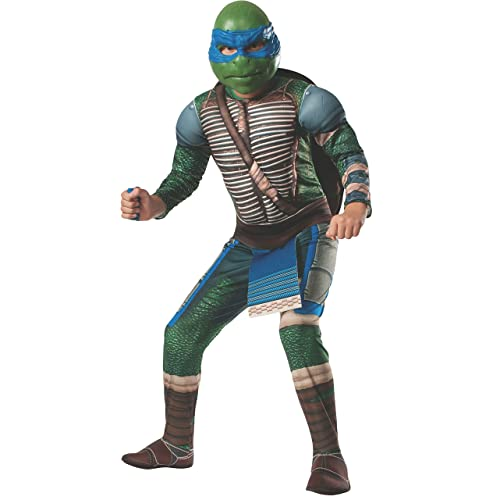 Rubies Teenage Mutant Ninja Turtles Deluxe Muscle-Chest Leonardo Costume Child Medium
