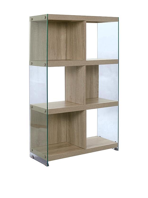 Wink design Libreria TREVISO, 6 Vani, Legno, Rovere, 71x30x120 cm