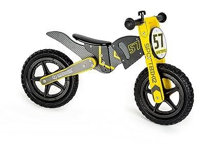 Small Foot 10739 cette Draisienne En Bois Style Motocross, Réglables En 3 Hauteurs Différentes Entraîne Le Sens De L'équilibre
