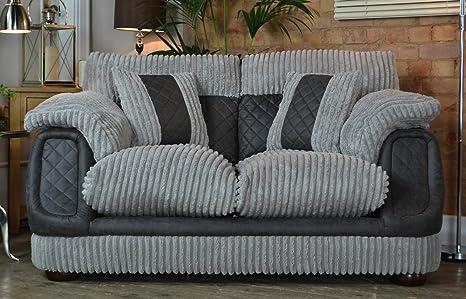 Zephyr 2 Seater Sofa - Silver / Grey