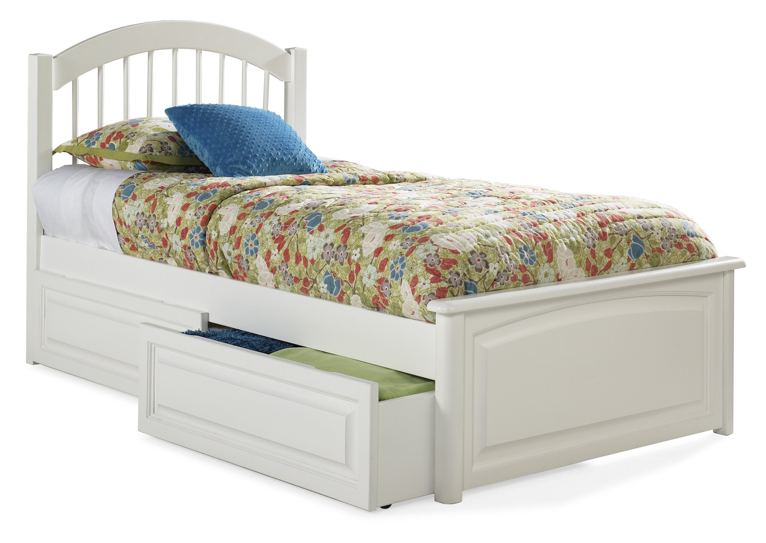 Twin platform bed with drawers - Windsor Twin Platform Bed With Raised Panel Footboard White With 2 Raised Panel Bed Drawers