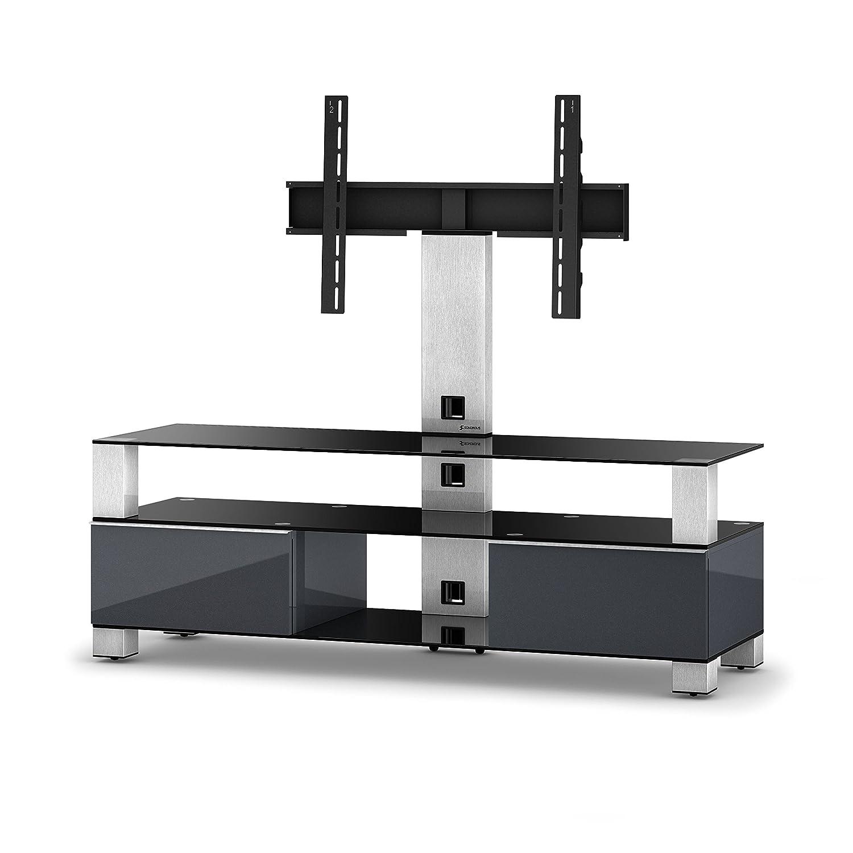 Sonorous MD 8143-B-INX-GRP Greu TV-Möbel für 60