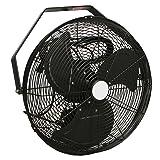 VES 18-inch Fan, Wall/ceiling Mount, Corrosion Resistant Black (Color: Black, Tamaño: 18