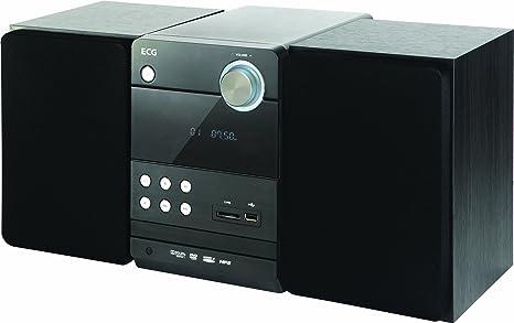 ECG Xenon D 1010 HD Système Micro Audio avec DVD/CD, USB, radio FM, balance, HDMI, SCART, cartes SD et haut-parleur Marron