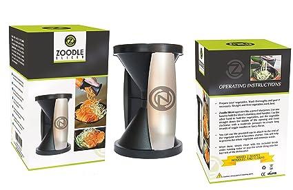 THE ORIGINAL ZOODLE SLICER - Premium Vegetable Spiralizer, Spiral Slicer, Zucchini Noodle Pasta Spaghetti Maker, Create Both Julienne Spirals