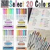 20 Color Full Set - Zebra Mildliner Soft Color Double-Sided Highlighter Marker WKT7-5C / WKT7-5NC / WKT7-5RC / WKT7-N-5C