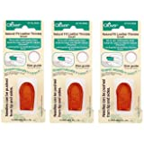 Clover Natural Fit Leather Thimble, Small (3 Pack) (Tamaño: 3 Pack)
