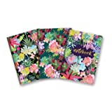 Studio Oh! 3-Pack Notebooks in Coordinating Designs Available in 12 Different Bundles, Succulent Paradise (Color: Succulent Paradise)