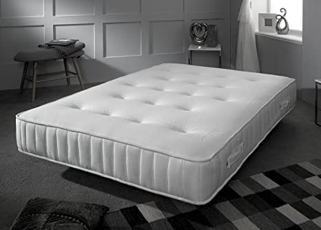 Pocket Orthopaedic Mattress - Hypo-Allergenic Fillings - Cool Touch Fabric Cover - Hand Tufted - Castle Stitch Border - 5ft - UK King (150 x 200 cm)