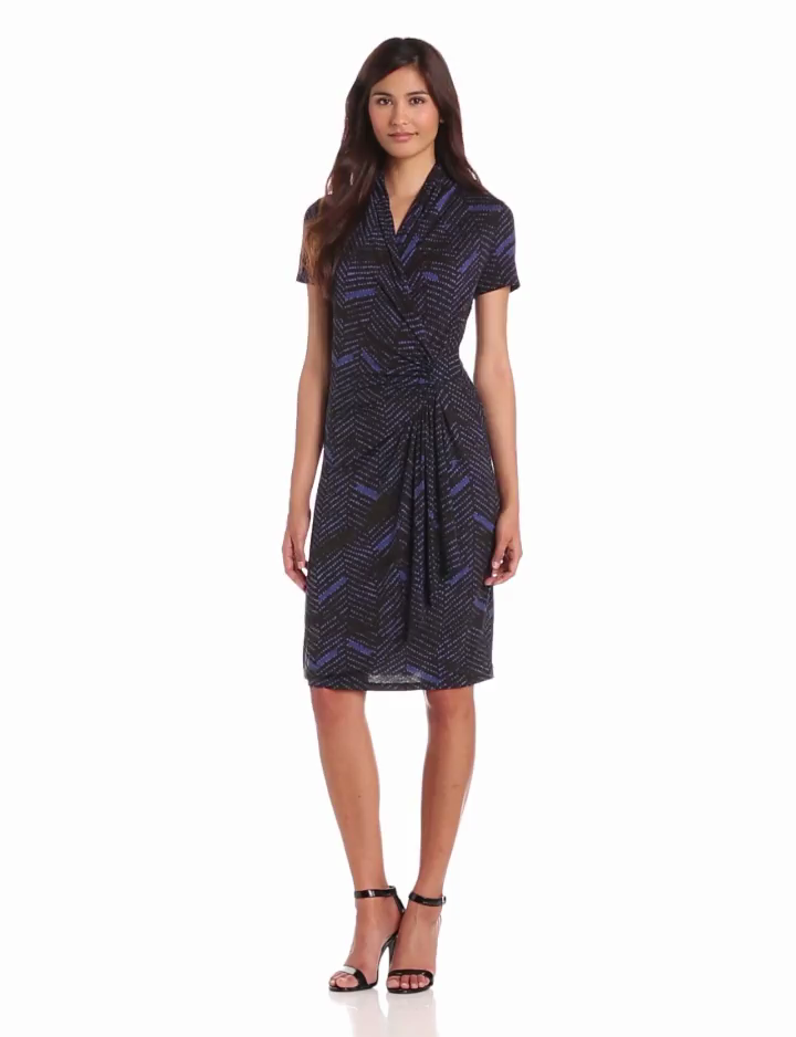 Karen Kane Women's Cascade Wrap Dress