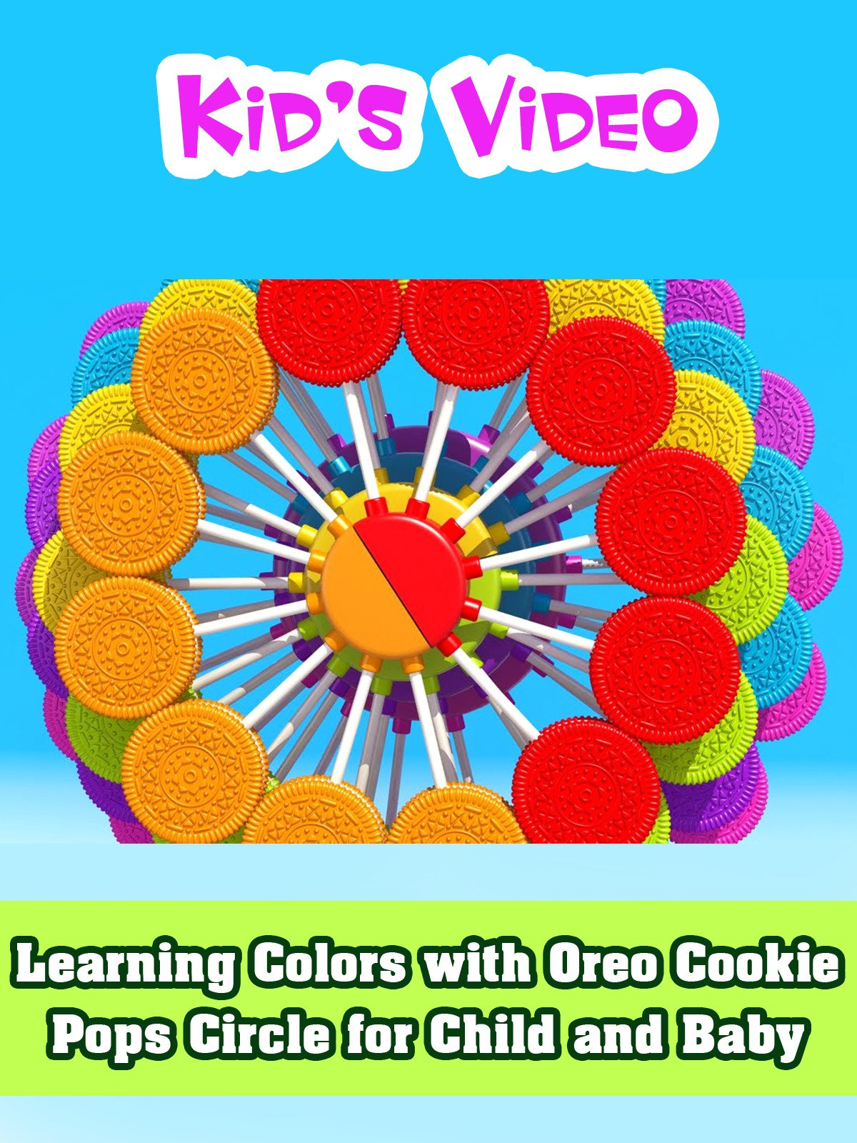 Learning Colors with Oreo Cookie Pops Circle for Child and Baby