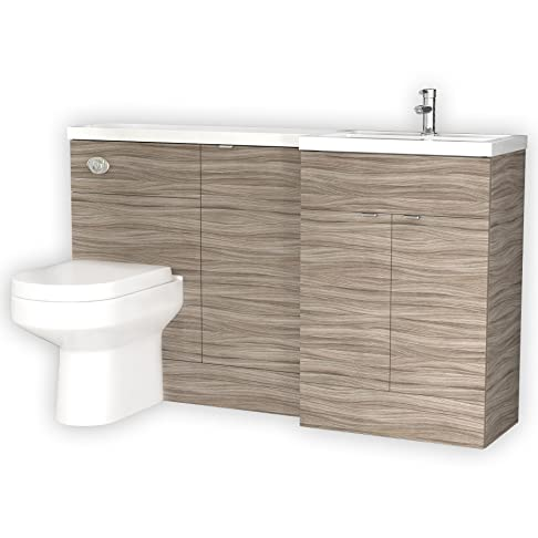 Hudson Reed destra per lavabo con forma a L btw unità con Brisban pan