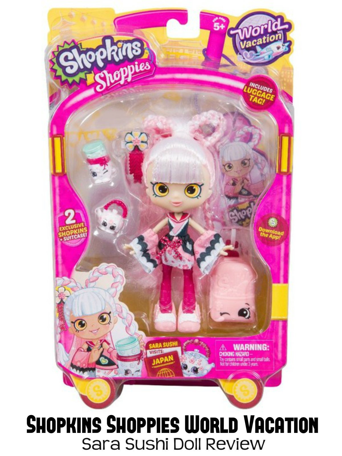 Review: Shopkins Shoppies World Vacation Sara Sushi Doll Review
