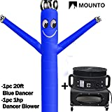 MOUNTO 20ft Air Sky Puppet Dancing Dancer with 1HP blower Complete Set, 20-Feet 18Inch (Blue) (Color: Blue, Tamaño: 20ft high, 18inch diameter)