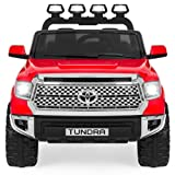 Best Choice Products 12V Kids Battery Powered Remote Control Toyota Tundra Ride On Truck - Red (Color: Red)