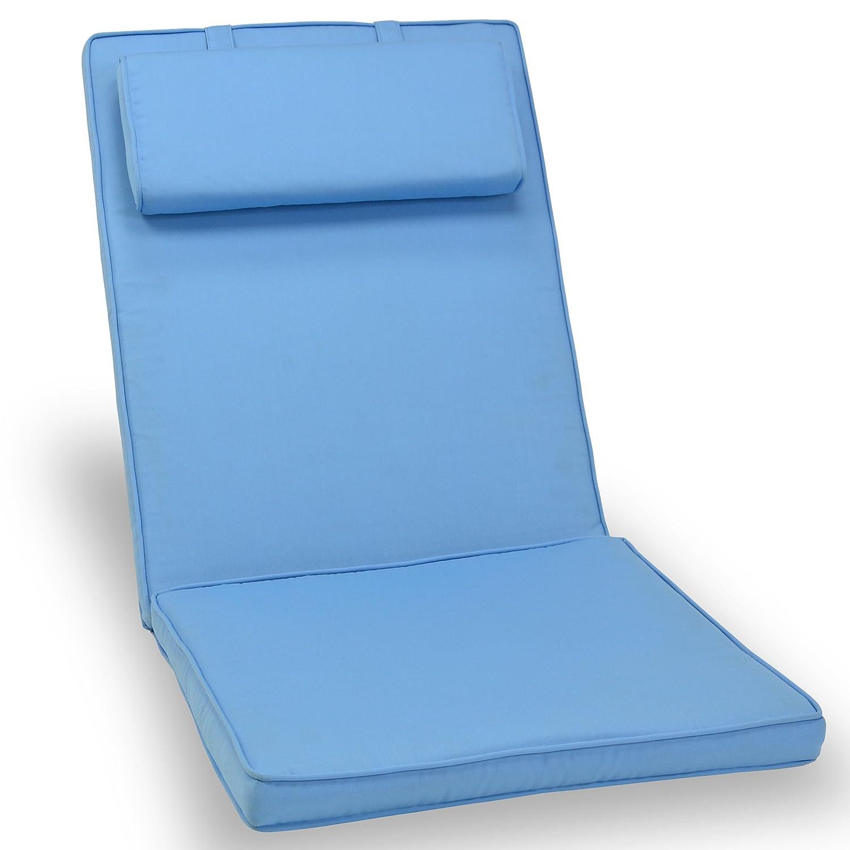 Sitz-Auflage Polster für Hochlehner Garten- und Klappstuhl Campingstühle Terrassenmöbel hochwertig bequem hellblau günstig