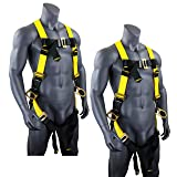 KwikSafety (Charlotte, NC) THUNDER (2 PACK) | OSHA ANSI Fall Protection Full Body Safety Harness | Personal Protective Equipment Dorsal Ring Side D-Rings | Universal Construction Industrial Roofing (Color: Harness + Harness, Tamaño: 2 Pack (save $5 ))