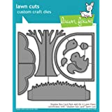 Lawn Cuts Custom Craft Die-shadow Box Card Park Add-on (Color: Original version)