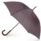 totes Auto Open Wooden Stick Umbrella,  Mens Stripe,  One Size (Color: Mens Stripe, Tamaño: One Size)