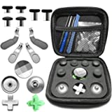 Quartet trade Elite Kit for Xbox One Elite Controller Accessory (6 Different Metal Analog Sticks - 4 Paddles - 2 D-Pads - and 2 Magnetic Base Xbox One Elite Controller Replacement Parts) (Color: 15 in 1(6 Different Metal Analog Sticks - 4 Paddles - 2 D-Pads - and 2 Magnetic Base Xbox One Elite)