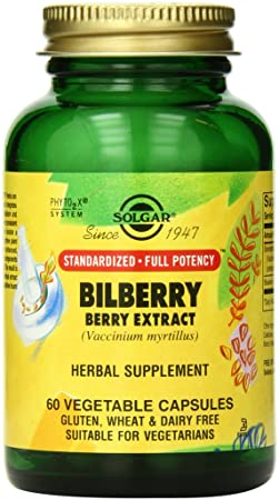 Отзывы Solgar SFP Bilberry Berry Extract Vegetable Capsules