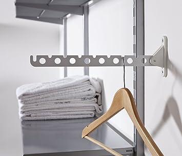 element system kleiderl fter laura f r wand klappbar inklusive schrauben und d bel wei 11202. Black Bedroom Furniture Sets. Home Design Ideas
