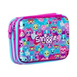 Smiggle Says Double Up Hard Top Pencil Case (Purple) (Color: Purple)
