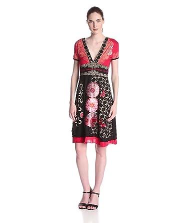 Desigual Damen Kleid FLECHAZO, Knielang, Gr. 34 (Herstellergröße: XS), Schwarz (Negro)34 (DE XXS/FR XS)