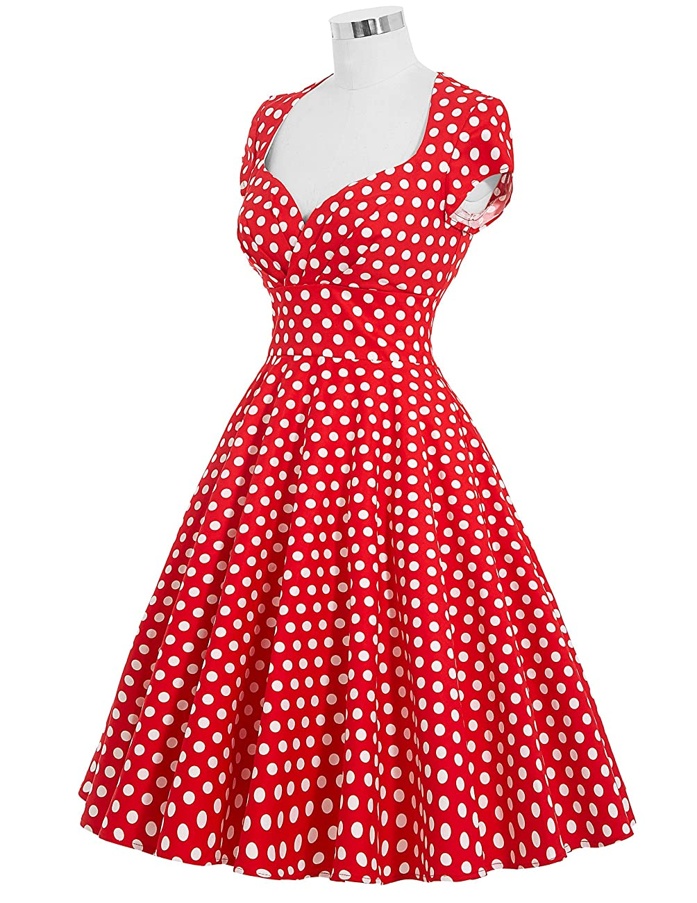 Belle Poque Women's 50's Cap Shoulder Knee-Length Vintage Church Dresses Size S-XL 4