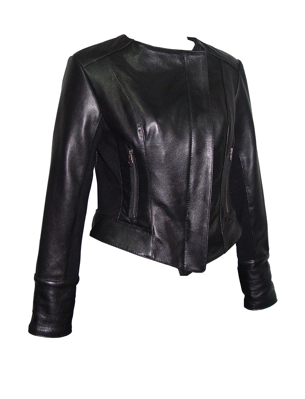 Nettailor GRATIS SchneidereiWoHerren 4070 Leder Moto Jacke Kragenless online bestellen
